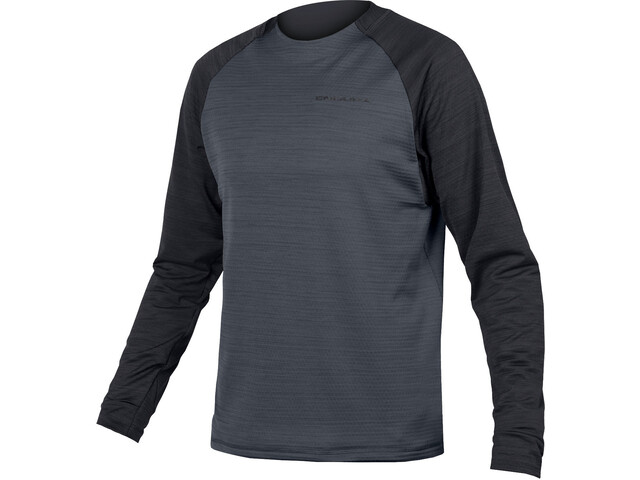 Endura SingleTrack Longsleeve Fleece Jersey Heren, black